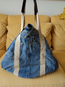 Maxi bag jeans for Borse fai da te jeans